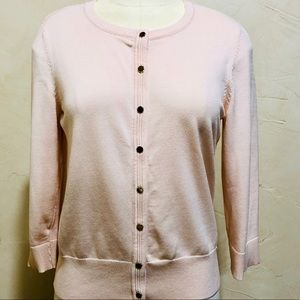 WHBM Cream Cardigan Gold Buttons